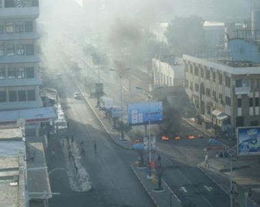 صور من المظاهرات في عدن