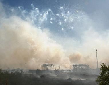 مصرع 3 نساء واصابة شخصين آخرين بجروح نتيجة انفجار وقع في احدى القواعد التابعة لوزارة الدفاع الروسية
