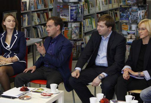 لقاء مدفيديف مع مدراء مشاريع في الإنترنت الروسي