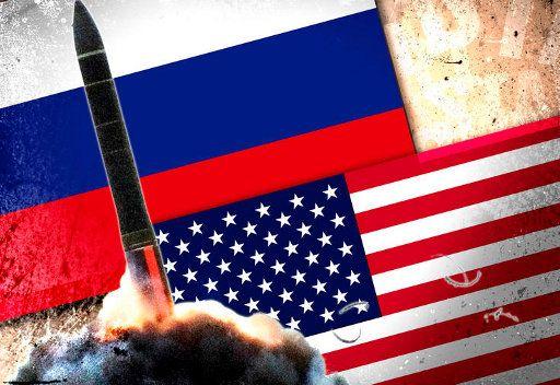العلمين الامريكي والروسي