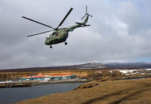 مروحية روسية تحوم في اجواء جزر الكوريل