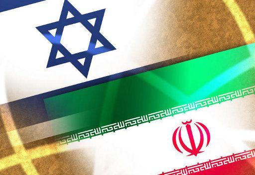العلمين الايراني والاسرائيلي