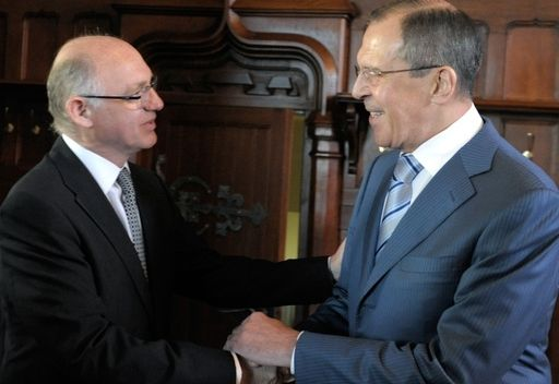 وزير الخارجية الروسي سيرغي لافروف مع نظيره الارجنتيني هكتور تيميرمان