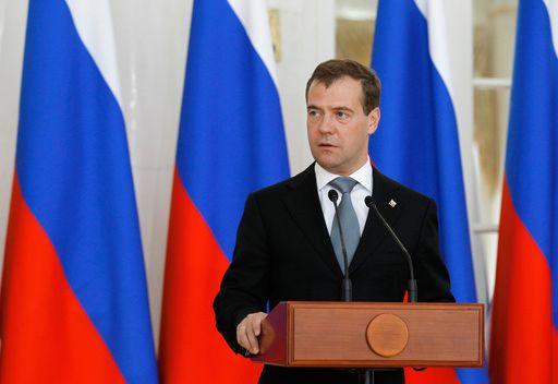 المؤتمر الصحفي للرئيس الروسي دميتري مدفيديف يوم  18 مايو/أيار