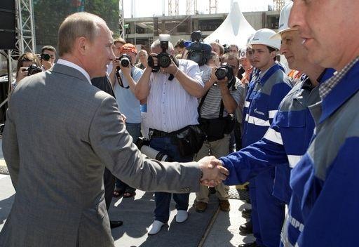 بوتين يدشن خط غاز جديدا في منطقة سوتشي عاصمة الاولمبياد الشتوي لعام 2014
