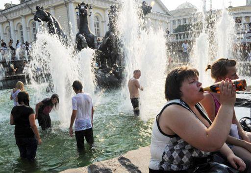موجة الحر غير الطبيعي تعود الى موسكو
