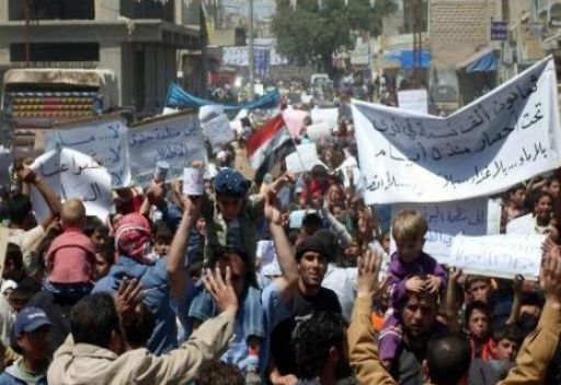 شريط فيديو للجيش السوري الذي يقوم باحتجاز المتظاهرين