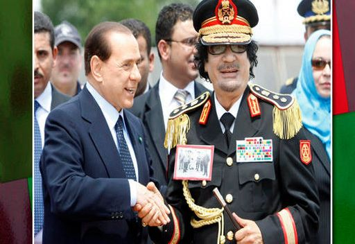 برلسكوني يخشى من انتقام القذافي