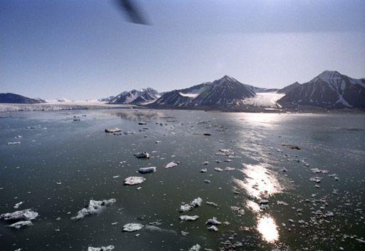 ارتفاع درجة حرارة المحيط  سيؤدي الى ذوبان الجبال الجليدية أسرع مما كان متوقعا