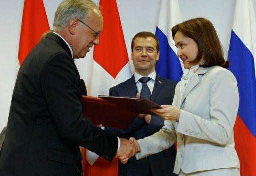 روسيا وسويسرا توقعان وثيقة التعاون من أجل التحديث