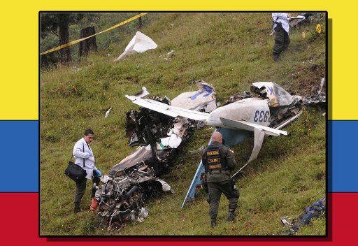 مقتل 5 رجال شرطة اثر تحطم طائرة في كولوميبا