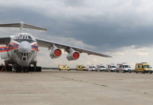 طائرة روسية تنقل مساعدات انسانية الى العاصمة الليبية