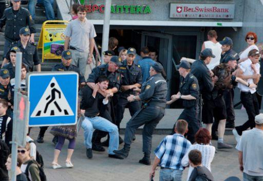 تفريق مظاهرة احتجاج في مينسك