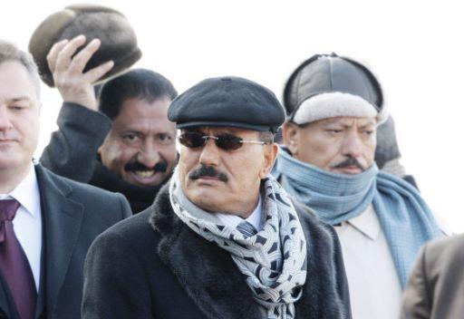 صالح خلال زيارته لموسكو عام 2009