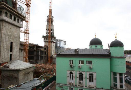 هدم مبنى جامع موسكو القديم