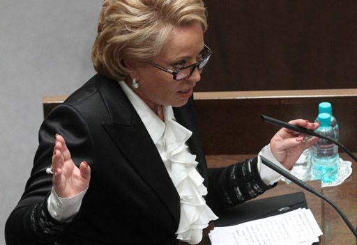 انتخاب فالنتينا ماتفيينكو رئيسة لمجلس الاتحاد الروسي