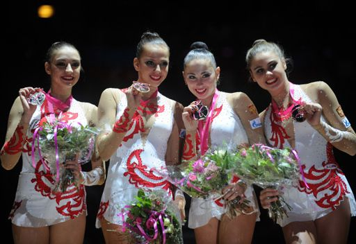 روسيا تتوج بذهبية بطولة العالم للجمباز الايقاعي للفرق