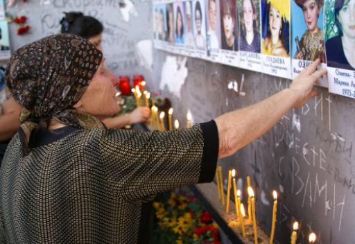 مراسم الحداد في مدينة بيسلان الروسية