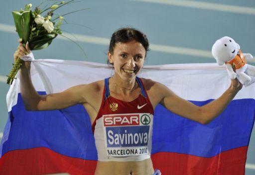 الروسية سافينوفا أفضل لاعبة قوى في أوروبا