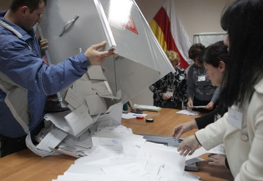تقدم المرشحة جيوييفا في الجولة الثانية من الانتخابات الرئاسية باوسيتيا الجنوبية