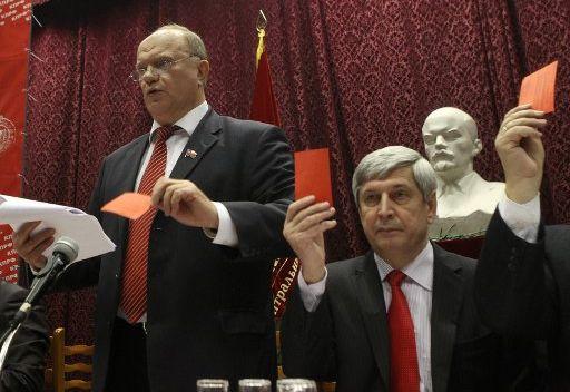 الحزب الشيوعي الروسي يرشح زعيمه لخوض انتخابات الرئاسة عام 2012