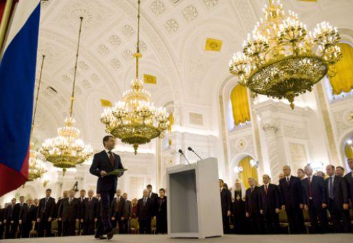الرئيس مدفيديف يلقي كلمته السنوية امام الجمعية الفيدرالية