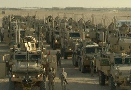 آخر قافلة عسكرية أمريكية تغادر العراق بعد تسع سنوات من الاحتلال