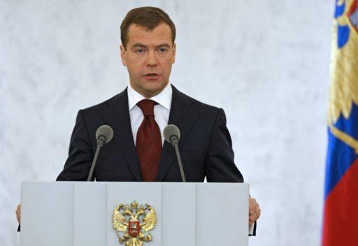 مدفيديف: الاقتصاد الروسي يحتل المرتبة السادسة في العالم