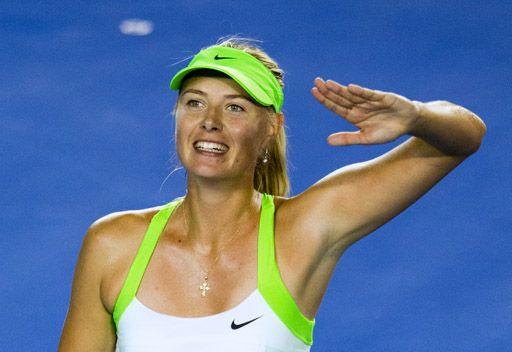 الروسية ماريا شارابوفا تتأهل الى الدور النهائي لبطولة استراليا المفتوحة للتنس