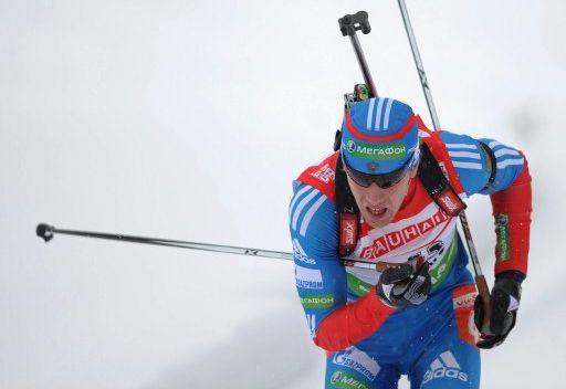 الروسي اليكسي فولكوف يفوز في سباق المطاردة في بطولة اوروبا للبياثلون