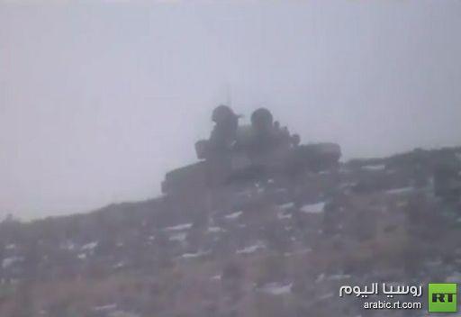 تمركز القناصة والدبابات في جبال بلدة رنكوس السورية