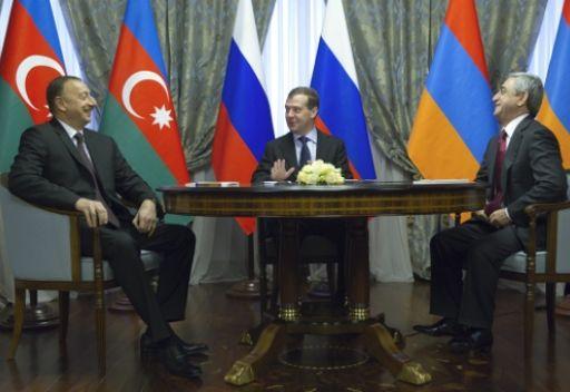 الرئيسان الارمني والاذربيجاني اتفقا على تسريع تنسيق المبادئ بصدد تسوية قضية قره باغ
