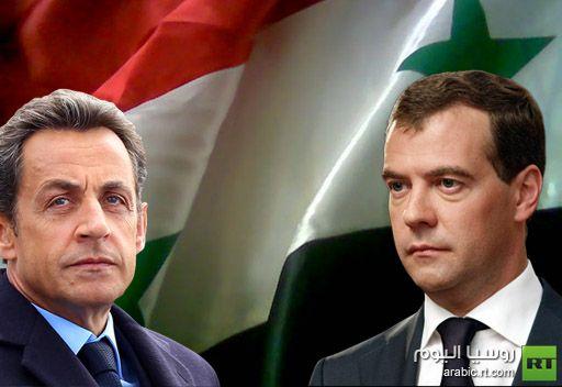 ساركوزي يدعو مدفيديف الى دعم خطة الجامعة العربية بشأن سورية