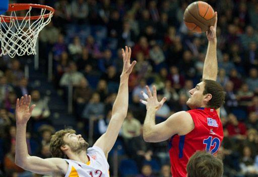تسيسكا موسكو يخسر أمام غلطة سراي بكرة السلة