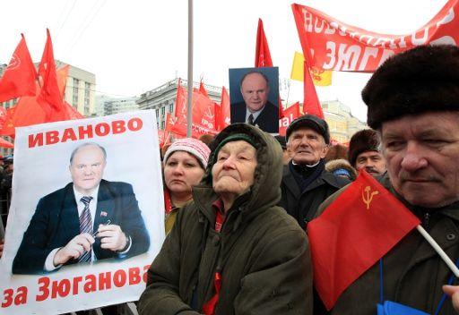 أنصار الحزبين الشيوعي والليبيرالي الديمقراطي يتظاهرون في موسكو