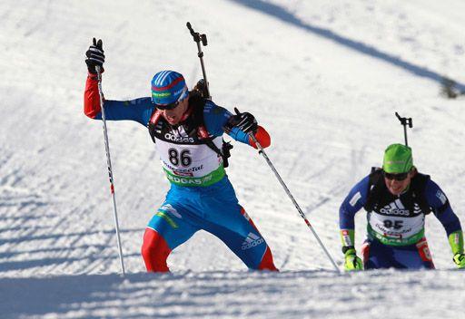 الروسي لابشين يتوج بفضية سباق 10 كلم بالبياتلون