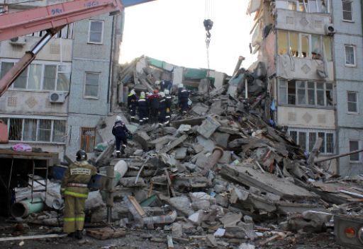 انفجار الغاز يؤدي الى انهيار جزئي لمبنى سكني بجنوب روسيا