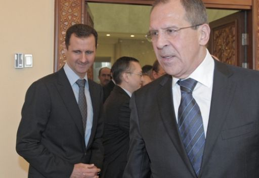 لافروف: بشار الاسد يكلف نائب الرئيس السوري فاروق الشرع بإجراء الحوار مع كل القوى المعارضة