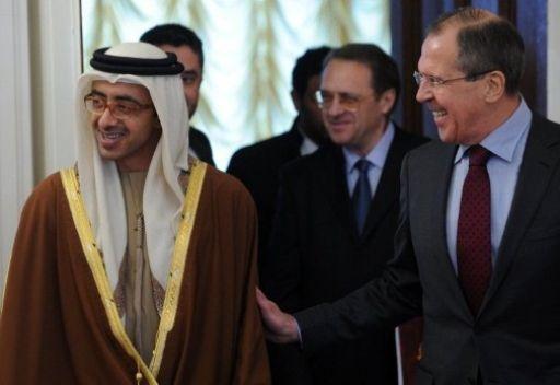 وزير الخارجية الاماراتي يشيد بالدور الروسي في عملية السلام