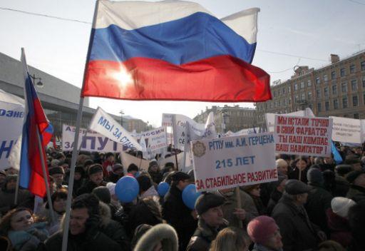 مظاهرات تأييدا لبوتين في مختلف المدن الروسية
