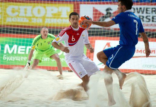 روسيا الى نهائي كأس اوروبا لكرة القدم الشاطئية في القاعات لتواجه البرتغال