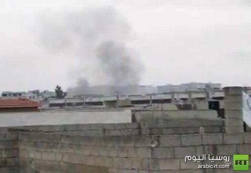 فيديو: لحظة سقوط قذيفة في بابا عمرو
