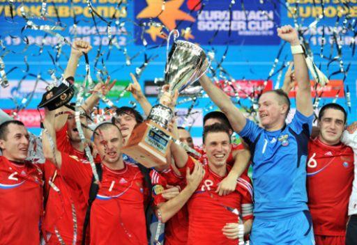 روسيا تتوج بكأس اوروبا لكرة القدم الشاطئية