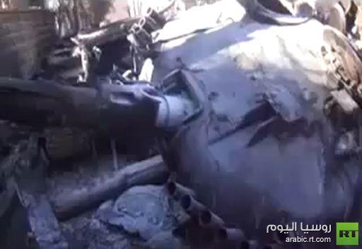 فيديو: تدمير دبابة للجيش السوري في الزبداني