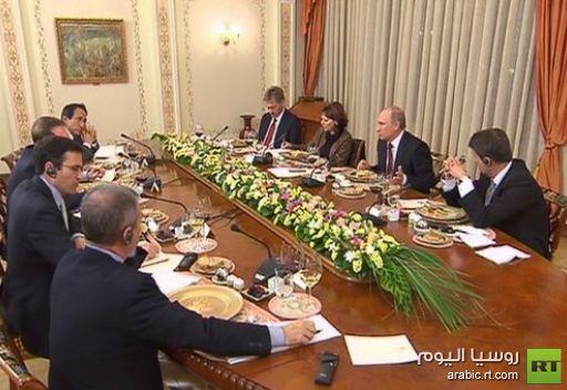 بوتين: نأمل تسوية مشاكل الحدود مع اليابان