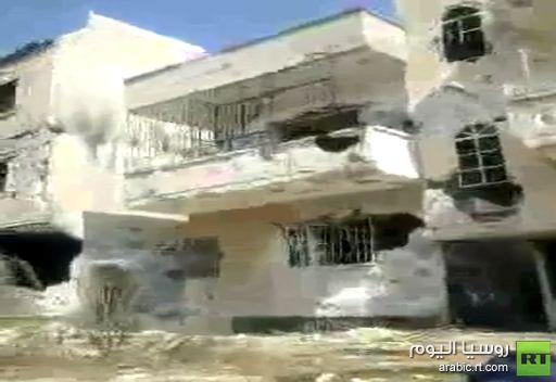 فيديو: آثار الدمار في حي باب عمرو