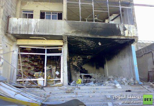 آثار الدمار في منطقة رنكوس السورية