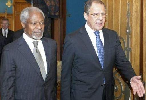 لافروف يؤكد ضرورة تقديم المجتمع الدولي دعما مكثفا لمهمة كوفي عنان