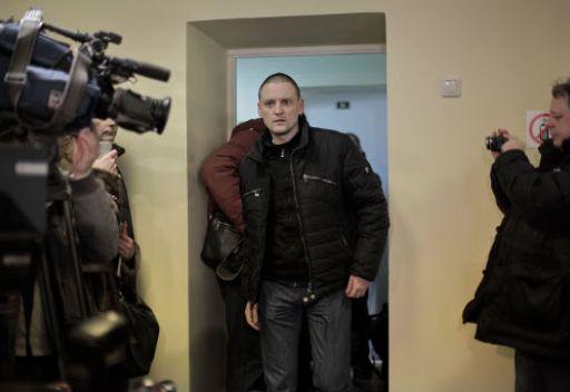 توقيف اداري لناشط روسي معارض  بسبب عدم امتثاله للشرطة في اعقاب مظاهرة مناوئة لبوتين