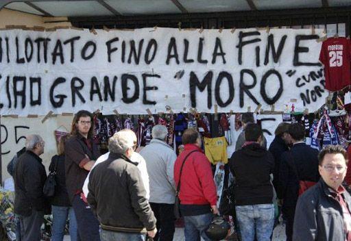 آلاف المشجعين يودعون موروسيني في ملعب ليفورنو
